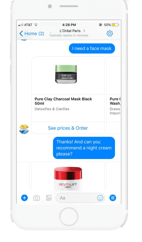 Free quote custom AI facebook messenger chatbots